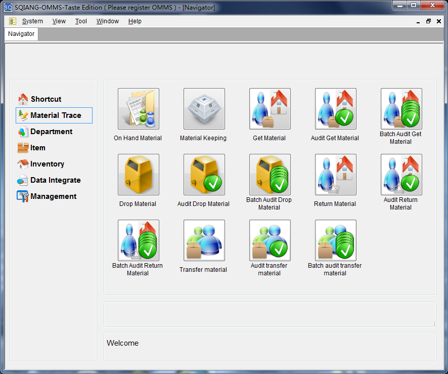 Click to view Office Material Management System screenshots